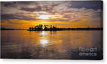 Mission Bay Purple Sunset By Jasna Gopic Canvas Print by Jasna Gopic