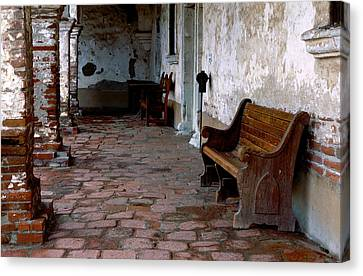 Mission Bench Canvas Print by Eric Foltz