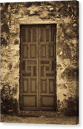 Mission Concepcion Door #2 Canvas Print by Stephen Stookey