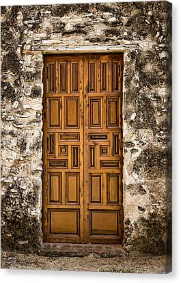 Mission Concepcion Door #3 Canvas Print by Stephen Stookey