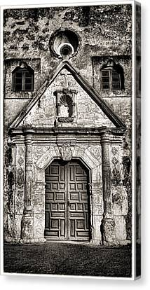 Mission Concepcion - Bw Toned Border Canvas Print by Stephen Stookey