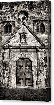 Mission Concepcion Front - Toned Bw Canvas Print