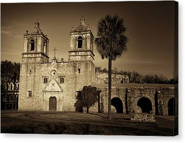Mission Concepcion -- Sepia Canvas Print by Stephen Stookey