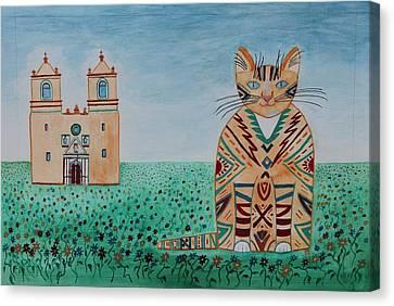 Mission Conception Cat Canvas Print