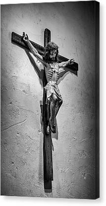 Mission Espada Crucifix Canvas Print by Stephen Stookey
