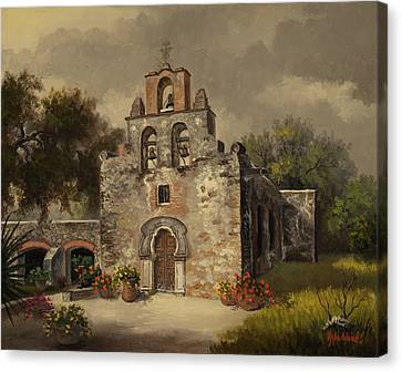 Mission Espada Canvas Print by Kyle Wood