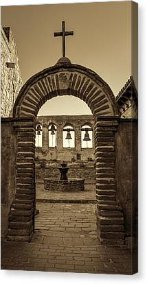 Mission Gate And Bells #2 Canvas Print by Stephen Stookey