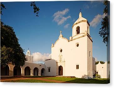 Mission Nuestra Senora Del Espiritu Santo De Zuniga At Sunset - Goliad Coastal Bend Texas Canvas Print