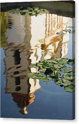 Mission Reflection Canvas Print by Sharon Foster