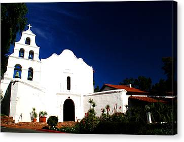 Canvas Print featuring the photograph Mission San Diego De Alcala by Christopher Woods