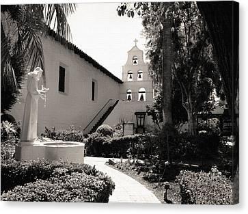 Mission San Diego Monochrome Canvas Print