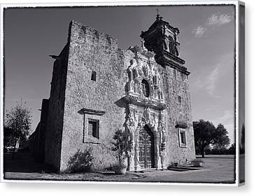 Mission San Jose - Bw Canvas Print by Stephen Stookey