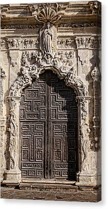 Mission San Jose Door - 1 Canvas Print by Stephen Stookey