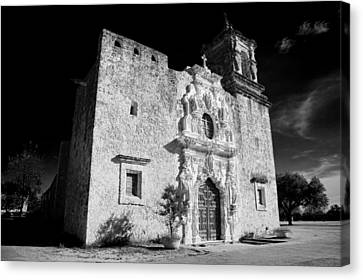Mission San Jose - Infrared Canvas Print by Stephen Stookey