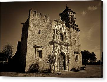 Mission San Jose - Sepia Canvas Print by Stephen Stookey