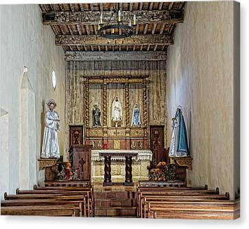 Canvas Print featuring the photograph Mission San Juan Capistrano Sanctuary - San Antonio by Stephen Stookey