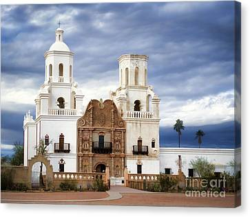 Mission San Xavier Del Bac Canvas Print by Donna Greene