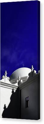 Mission San Xavier Del Bac Canvas Print by Gary Warnimont