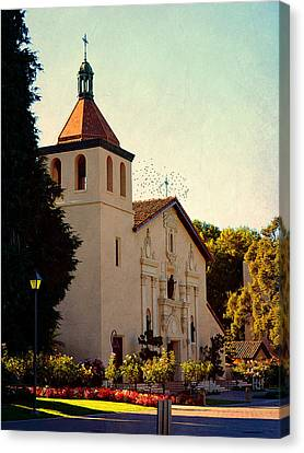 Canvas Print featuring the photograph Mission Santa Clara - California by Glenn McCarthy Art and Photography
