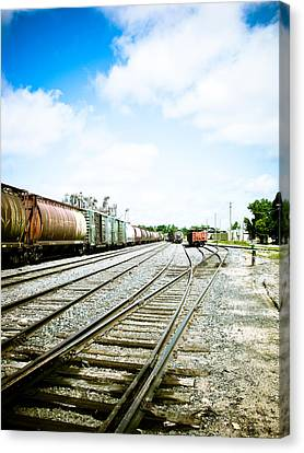 Mission Street Train Yard Canvas Print by Michael Knight