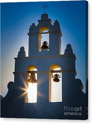 Mission Sunset Canvas Print by Inge Johnsson