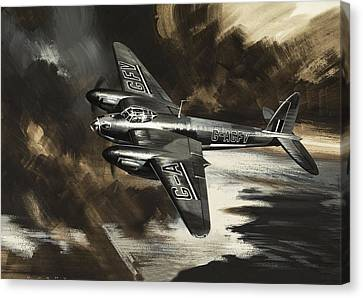 Raf Canvas Print - Mission To Danger by Wilf Hardy