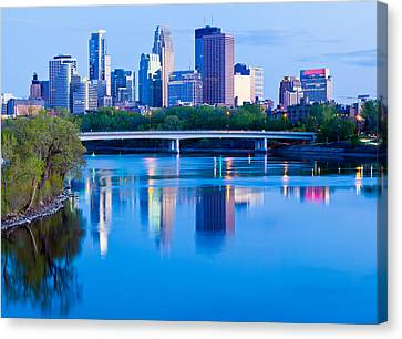 Mississippi And Minneapolis Canvas Print by Adam Pender