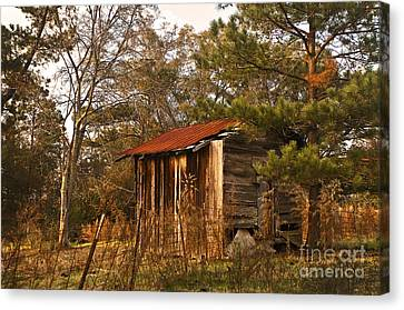 Canvas Print featuring the photograph Mississippi Corn Crib by Tamyra Ayles