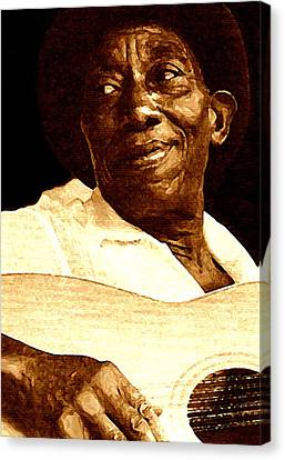 Mix Media Canvas Print - Mississippi John Hurt by Jeff DOttavio