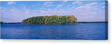 Mississippi River Along Great River Canvas Print