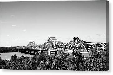 Mississippi River Bridge - Vicksburg Canvas Print by Scott Pellegrin