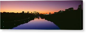 Mississippi River, Minneapolis, Sunset Canvas Print by Panoramic Images