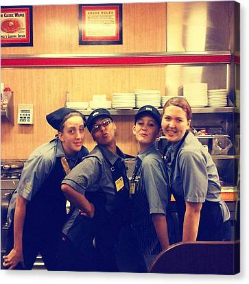 Mississippi Waffle House Girls Canvas Print