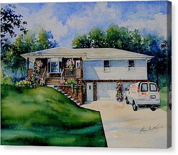 Missouri Home Portrait Canvas Print by Hanne Lore Koehler