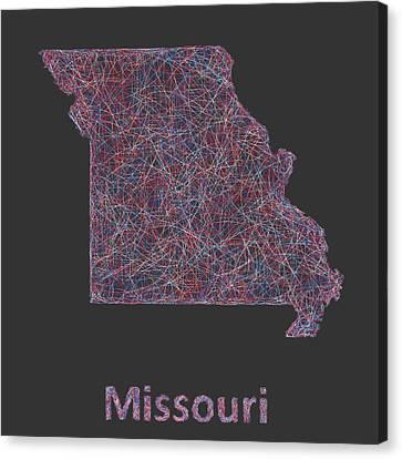 Missouri Canvas Print - Missouri Map by David Zydd