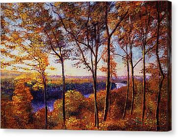 Missouri River In Fall Canvas Print by David Lloyd Glover