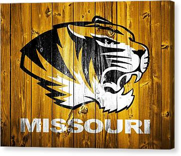 Missouri Tigers Barn Door Canvas Print by Dan Sproul