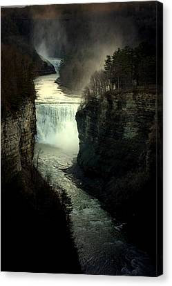 Mist And The Falls Canvas Print