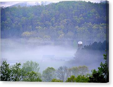 Mist In The Valley Canvas Print