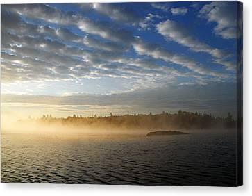 Mist On Boot Lake Canvas Print