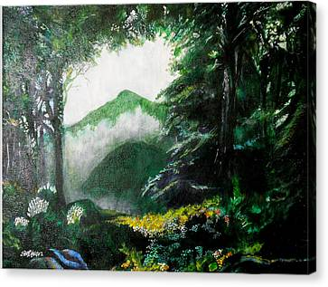 Canvas Print - Mist On The Mountain by Seth Weaver