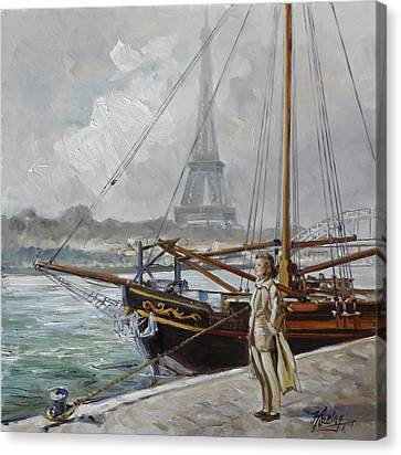 Canvas Print - Mist On The Seine, Paris by Irek Szelag