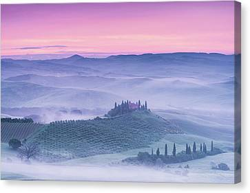 Mist Over Belvedere Canvas Print by Michael Blanchette