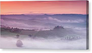 Mist Over Belvedere - Panaroma Canvas Print by Michael Blanchette