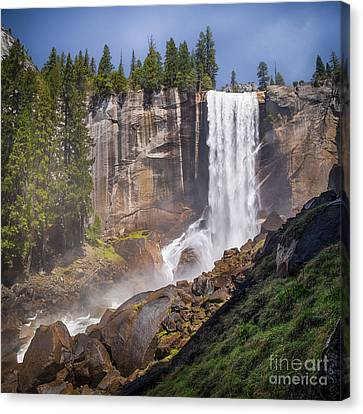 Mist Trail And Vernal Falls Canvas Print