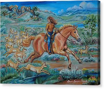 Pronghorn Antelope Canvas Print - Mistaken Identity by Dawn Senior-Trask