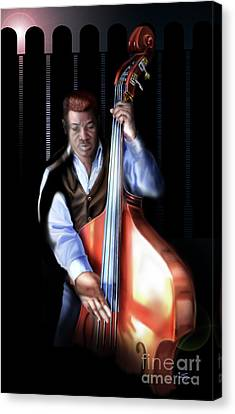 Mister Charles About That Bass Canvas Print by Reggie Duffie
