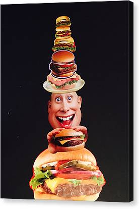 Mister Cheese Burger Canvas Print by Douglas Fromm