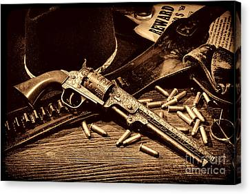 Mister Durant's Revolver Canvas Print by American West Legend By Olivier Le Queinec