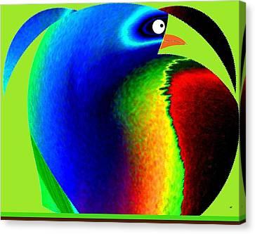 Fed Canvas Print - Mister Potato Bird by Will Borden